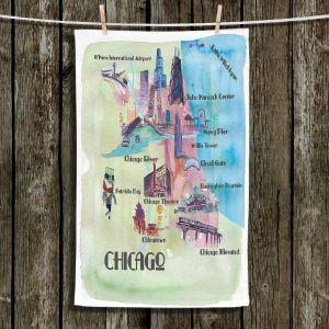 Unique Bathroom Towels   Markus Bleichner - Chicago Tourist 2   map city simple