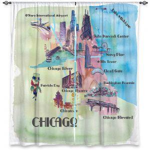 Decorative Window Treatments | Markus Bleichner - Chicago Tourist 2 | map city simple