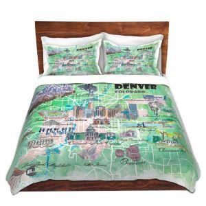 Artistic Duvet Covers and Shams Bedding | Markus Bleichner - Denver Colorado Map | Cities Maps States