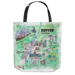 Unique Shoulder Bag Tote Bags | Markus Bleichner - Denver Colorado Map | Cities Maps States