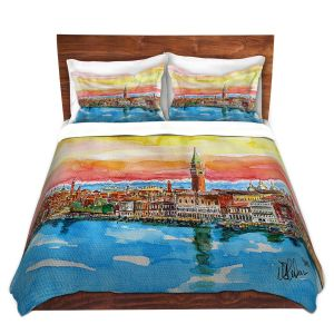 Artistic Duvet Covers and Shams Bedding | Markus Bleichner - Fabulous Venice Italy Alps ll