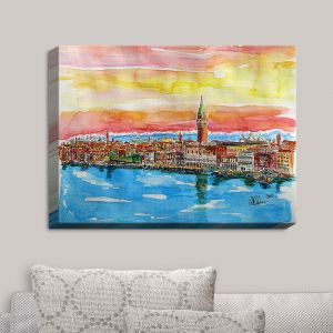 Decorative Canvas Wall Art | Markus Bleichner - Fabulous Venice Italy Alps II | Venice Italy Alps Water