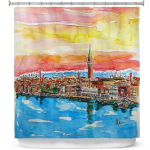 Premium Shower Curtains | Markus Bleichner - Fabulous Venice Italy Alps ll