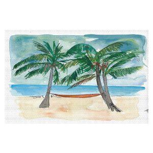 Decorative Floor Covering Mats | Markus Bleichner - Florida Keys Hammock | Beach Ocean Landscape Trees