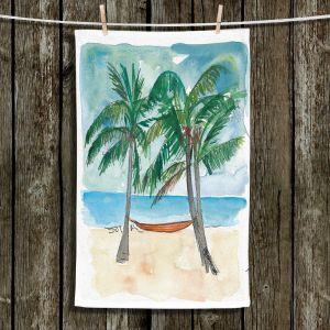 Unique Bathroom Towels | Markus Bleichner - Florida Keys Hammock | Beach Ocean Landscape Trees