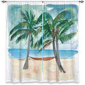 Decorative Window Treatments | Markus Bleichner - Florida Keys Hammock | Beach Ocean Landscape Trees