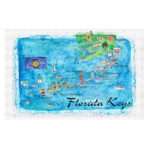 Decorative Floor Covering Mats | Markus Bleichner - Florida Keys Map | Maps States