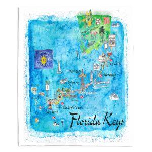 Decorative Fleece Throw Blankets | Markus Bleichner - Florida Keys Map | Maps States