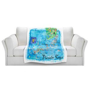 Artistic Sherpa Pile Blankets | Markus Bleichner - Florida Keys Map | Maps States