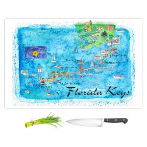 Artistic Kitchen Bar Cutting Boards | Markus Bleichner - Florida Keys Map | Maps States