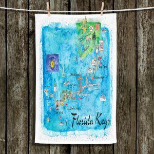 Unique Hanging Tea Towels | Markus Bleichner - Florida Keys Map | Maps States