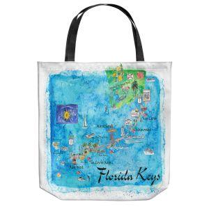 Unique Shoulder Bag Tote Bags   Markus Bleichner - Florida Keys Map   Maps States