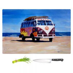 Artistic Kitchen Bar Cutting Boards | Markus Bleichner - Groovy Peace VW Bus
