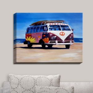 Decorative Canvas Wall Art | Markus Bleichner - Groovy Peace VW Bus
