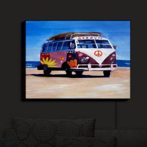 Nightlight Sconce Canvas Light | Markus Bleichner - Groovy Peace VW Bus