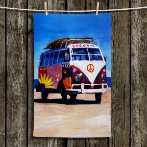 Unique Bathroom Towels | Markus Bleichner - Groovy Peace VW Bus