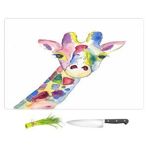 Artistic Kitchen Bar Cutting Boards | Markus Bleichner - Happy Giraffe | Animals