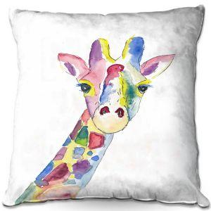 Decorative Outdoor Patio Pillow Cushion | Markus Bleichner - Happy Giraffe | Animals
