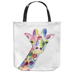 Unique Shoulder Bag Tote Bags   Markus Bleichner - Happy Giraffe   Animals