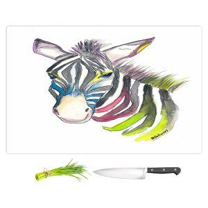 Artistic Kitchen Bar Cutting Boards | Markus Bleichner - Happy Zebra 3 | Animals