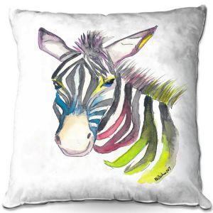 Decorative Outdoor Patio Pillow Cushion | Markus Bleichner - Happy Zebra 3 | Animals