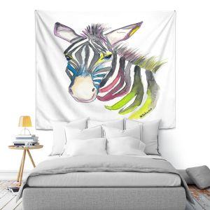 Artistic Wall Tapestry | Markus Bleichner - Happy Zebra 3 | Animals