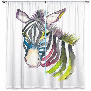 Decorative Window Treatments | Markus Bleichner - Happy Zebra 3 | Animals