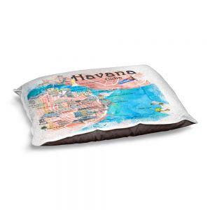 Decorative Dog Pet Beds   Markus Bleichner - Havana Cuba Map   Maps Cities Countries Travel