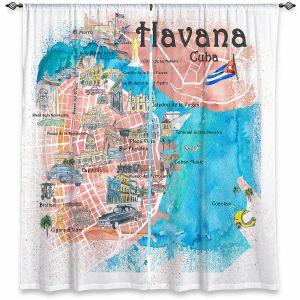 Decorative Window Treatments | Markus Bleichner - Havana Cuba Map | Maps Cities Countries Travel