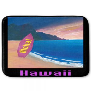 Decorative Bathroom Mats | Markus Bleichner - Hawaii Surfboard | coast beach waves summer surfing
