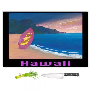 Artistic Kitchen Bar Cutting Boards | Markus Bleichner - Hawaii Surfboard | coast beach waves summer surfing
