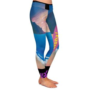 Casual Comfortable Leggings | Markus Bleichner - Hawaii Surfboard | coast beach waves summer surfing