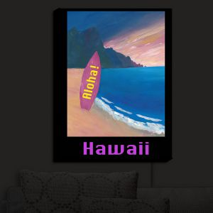 Nightlight Sconce Canvas Light | Markus Bleichner - Hawaii Surfboard