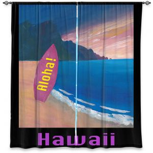 Decorative Window Treatments | Markus Bleichner - Hawaii Surfboard | coast beach waves summer surfing