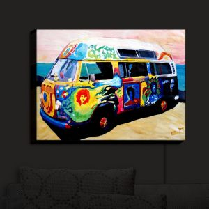 Nightlight Sconce Canvas Light | Markus Bleichner's Here Comes the Sun Volkswagon Bus