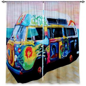 Decorative Window Treatments | Markus Bleichner Here Comes the Sun Volkswagon Bus