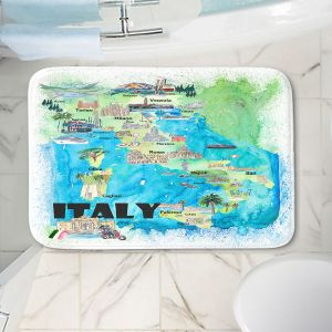 Decorative Bathroom Mats | Markus Bleichner - Italy Tourist Map 2 | Maps Cities Countries Travel