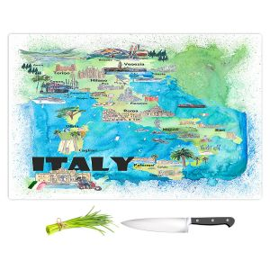 Artistic Kitchen Bar Cutting Boards | Markus Bleichner - Italy Tourist Map 2 | Maps Cities Countries Travel