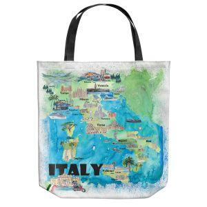 Unique Shoulder Bag Tote Bags   Markus Bleichner - Italy Tourist Map 2   Maps Cities Countries Travel