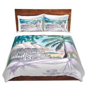Artistic Duvet Covers and Shams Bedding   Markus Bleichner - Key West House 1   Building Beach Ocean Trees