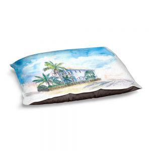 Decorative Dog Pet Beds   Markus Bleichner - Key West House 2   Building Beach Ocean Trees