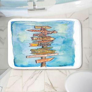 Decorative Bathroom Mats   Markus Bleichner - Key West Sign Post   City Travel