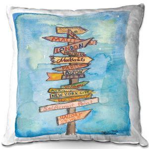 Decorative Outdoor Patio Pillow Cushion | Markus Bleichner - Key West Sign Post | City Travel