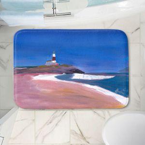 Decorative Bathroom Mats | Markus Bleichner - Lighthouse 1 | coast beach building waves ocean sea