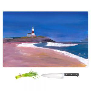 Artistic Kitchen Bar Cutting Boards | Markus Bleichner - Lighthouse 1 | coast beach building waves ocean sea