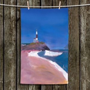 Unique Bathroom Towels | Markus Bleichner - Lighthouse 1 | coast beach building waves ocean sea