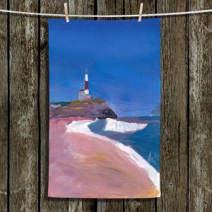 Unique Hanging Tea Towels | Markus Bleichner - Lighthouse 1 | coast beach building waves ocean sea