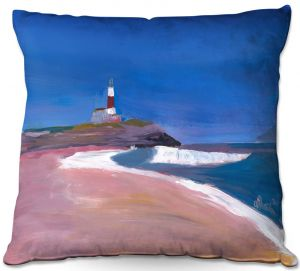 Throw Pillows Decorative Artistic | Markus Bleichner - Lighthouse 1 | coast beach building waves ocean sea