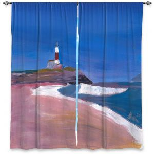 Decorative Window Treatments | Markus Bleichner - Lighthouse 1 | coast beach building waves ocean sea