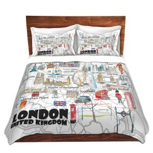 Artistic Duvet Covers and Shams Bedding   Markus Bleichner - London UK Tourist 2   Countries Cities Travel